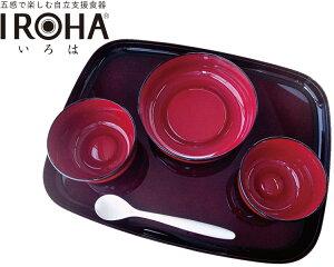 五感で楽しむ自立支援食器IROHA ライン春慶塗 iroha02s 基本セット 大成樹脂工業介護 食器セット 介護用品 高齢者