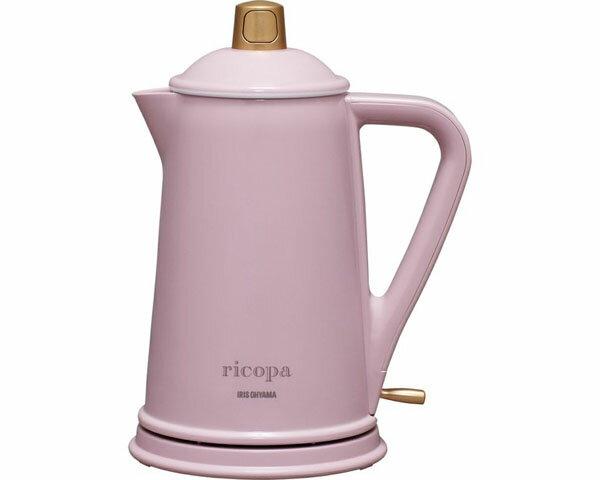 ケトル ricopa ケトル IKE-R800 アイリスオーヤマキッチン 調理器具 可愛い 女子会 パーティー やかん 湯沸し オシャレ アンティーク調 コンパクト