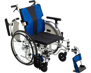 アルミ自走式車椅子(モジュールタイプ) MYU5-22 ミキ車いす 自走型 車イス 福祉用具 高齢者 介護用品