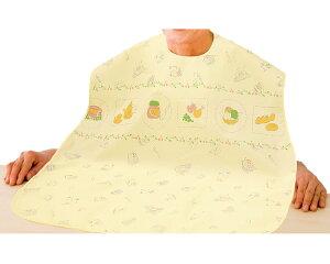 乾燥機対応エプロン 89828 ケアファッション食事用エプロン 前掛け 食事サポート 食べこぼし 幅広タイプ かわいい 大人用 シニア 介護 介護用品 高齢者 愛情介護 2020AW