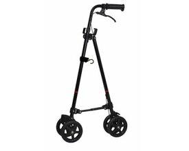 ハンドレールステッキ2 ブラック WB5135 フジホーム介護用品 杖 ステッキ ハンドレール 歩行補助 車輪付き