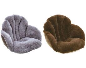 腰と背中を包む座れるとろりんファー コジット座布団 座椅子 クッション かわいい あったか チェアクッション ファー こたつ 冷え性