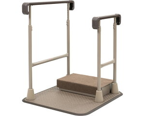 すりてあsix 両手すりSL 踏み台あり ST6F-SL タマツ手摺り 立ち上がりサポート 移動 転倒防止 ささえ 高齢者 介護 介護用品