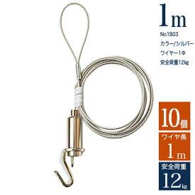 【10個入り】ピクチャーレール用パワーミニワイヤー自在M100 長さ1m【送料無料】ポイント