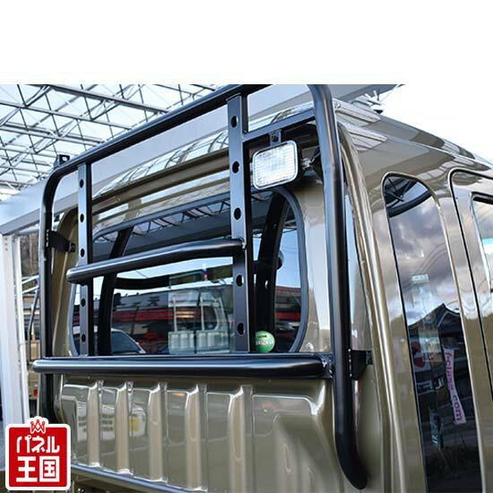 軽トラック【ハードカーゴガード】スーパーキャリィ(DA16T) 用 荷台窓ガード ロールバータイプの迫力のデザイン。純正ボルトで交換するだけで簡単に装着可能!車検対応(キャリィ不可)キャリー