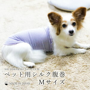 お肌に優しい小型から中型犬用シルク腹巻Mサイズ