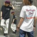 HP PAOPAO オリジナル チェーン刺繍 ロゴ ラグランスリーブ Tシャツ【ワンポイント バック刺繍 レディース 半袖 森ガ…