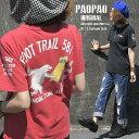 KA PAOPAO オリジナル 白熊ボーリング ロゴプリント Tシャツ【カレッジ 半袖 バックプリント アメカジ かっこいい ナ…