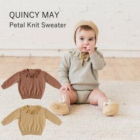 2020AW/QUINCYMAE/クインシーメイ/QM062/PetalKnitSweater/ニットセーター/baby/ベビーウェア/キッズウェア/オーガニックコットン
