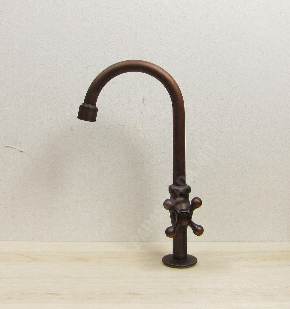 【送料無料】レトロ 蛇口 グースネック(ブロンズ 手洗い鉢 手洗い器用の水栓金具