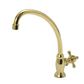 【JODEN水栓】クロスフォーセットCH単水栓(ブラス) |トイレ・洗面用のアンティークな立水栓