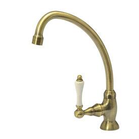 【水栓金具】レバーフォーセットCL単水栓(アンティークブラス)|アンティーク立水栓(洗面所・手洗用の蛇口)
