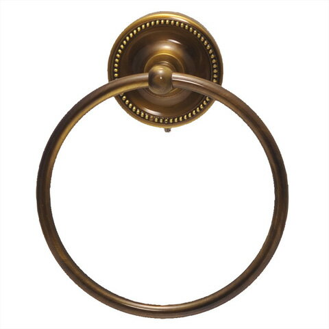 640610 お洒落な真鍮製タオル掛け・タオルリングL(アンティークブラス)|アンティーク調ダークブラウン【05P03Dec16】