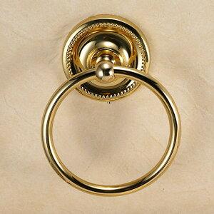 640125 おしゃれな真鍮製タオル掛け・タオルリングS(ヴィクトリアン・ブラス)|アンティーク調ゴールド色