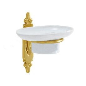 ソープディッシュ 石鹸置き(クラシック) 真鍮製 アンティーク ゴールド 640307