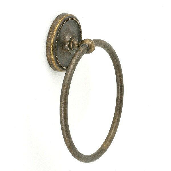 640760 お洒落な真鍮製タオル掛け・タオルリングL(真鍮古色仕上げ)|アンティーク調【05P03Dec16】