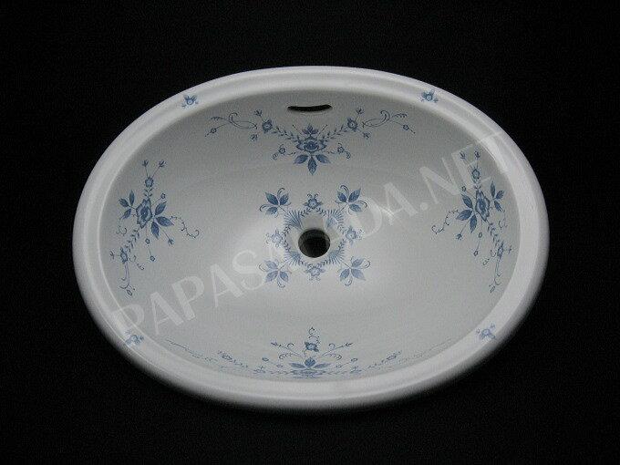 【送料無料】淡い花柄 北欧ナチュラル 洗面ボール 【Essence】オールドイングランド 洗面ボウル レトロな洗面器 カントリー調