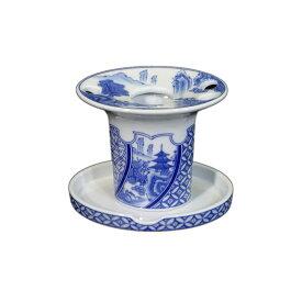 【有田焼】染付祥瑞 歯ブラシ立て ART1-GD006 鮮やかな染付の藍色 洗面所 歯ブラシホルダー
