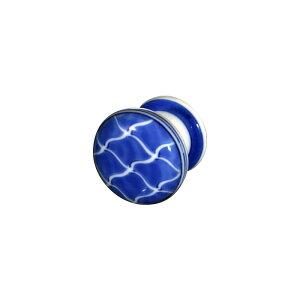 【有田焼】染付祥瑞 つまみ ART1-GD008 鮮やかな染付の藍色 ドアノブ 取っ手 キッチン 洗面所 手洗い トイレ 小物