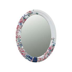【有田焼】伊万里焼 染錦金彩桜絵 鏡(楕円) ART2-GL003 (H570×W430) 美しく華やかな桜 壁掛け ミラー 玄関 洗面所 リビング
