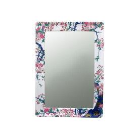 【有田焼】伊万里焼 染錦金彩桜絵 鏡(角型) ART2-GL005 (H450×W350) 美しく華やかな桜 壁掛け ミラー 玄関 洗面所 リビング 手洗い場
