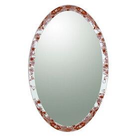 【有田焼】伊万里焼 錦鉄線花絵 鏡(楕円) ART4-GL001 (H1050×W650)壁掛け ミラー 玄関 洗面所 リビング