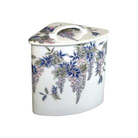 有田焼 伊万里焼 陶磁器 陶器 染付藤絵 エチケットボックス ART5-GD012 サニタリーポット サニタリーボックス トイレ 洗面所