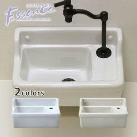 手洗器 Sレクタングル 立水栓用 選べる2色 壁付 壁掛け 手洗い器 手洗鉢 手洗い鉢 エッセンス