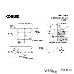 洗面ボウル承認図トレシャム洗面器フェアファックスシングルレバー洗面セット
