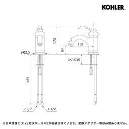 蛇口承認図トレシャム洗面器フェアファックスシングルレバー洗面セット