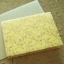京染和紙 メッセージカード<ゆり>封筒付き2枚入り