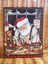 再入荷!わずかのみ LANG ラング クリスマスカード サンタ Santa's Workshop