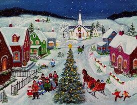 LANG ラング クリスマスカード フォークアート Silent Night