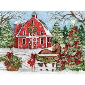 LANG ラング クリスマスカード 馬とツリー Heartland Holiday