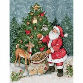 限定数のみ再入荷! LANG ラング クリスマスカード サンタと森の動物達 Farther Christmas