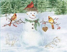 LANG ラング クリスマスカードHappy Snowman