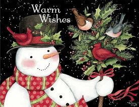 LANG ラングクリスマスカード スノーマンとお友達 Snowman and Friends