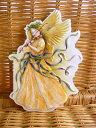 USA Carol Wilson キャロルウィルソンダイカットクリスマスカードChristmas Angel with Violin