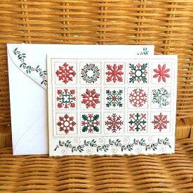 わずかのみ入荷! USA Carol Wilson キャロルウィルソン 多目的カード クリスマスキルト Christmas Quilt