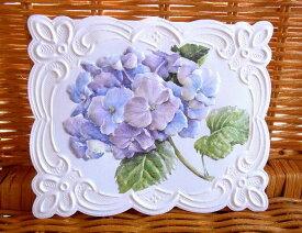 Carol Wilson キャロルウィルソン 多目的カード アジサイ 紫陽花 Hydrangeas