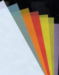 カラートレス クロマティコ 100g/m2 名刺サイズ 100枚 (A4カット品) 当日発送応相談 トレーシングペーパー コピー用紙 半透明紙 カラー用紙