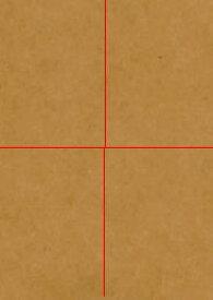 未晒両更 クラフト紙 129.5k 半才四切 299*448mm or A3 400枚 当日発送応相談 印刷用紙 ハトロン紙 包装紙 ラッピング 型紙