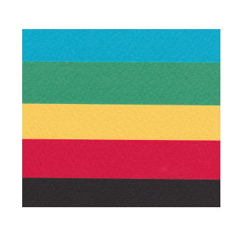 マーメイド 原色系4色 黒 153k A6 or はがきサイズ 40枚 (A4カット品) 【当日発送可 印刷用紙 ファンシーペーパー 特殊紙 型押荒目】