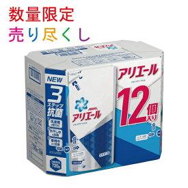 P&G アリエール イオンパワージェル 液体 詰め替え 720gx12個 サイエンスプラス 洗濯洗剤 ケース販売 業務用