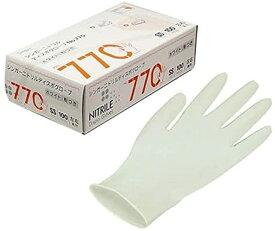あす楽 ニトリル手袋 粉付 No770 SS S M L 100枚入り ホワイト 宇都宮製作 シンガー ニトリルディスポグローブ ディスポーザブル