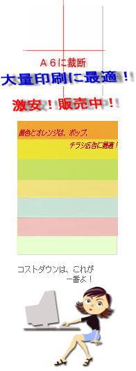 A6サイズに裁断ノーブランド 色上質紙 薄口 A4 2,000枚【当日発送可】【普通紙】【カラーペーパー・色紙・OA用紙・コピー用紙】