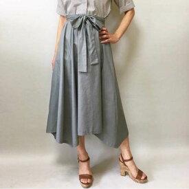 優雅な裾揺れ 上品スタイル フレアギャザースカート 表地のみ 7号〜17号 型紙 ハンドメイド スカートパターン 洋裁 手作り 大きいサイズ ロングスカート ウエストゴム
