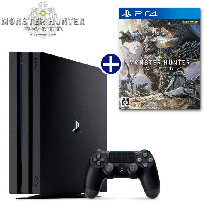【予約】【PS4】 2018年1月26日発売予定 モンスターハンター:ワールド ソフト+ PlayStation4 Pro 本体 セット [PLJM-16110][モンスターハンターワールド] [プレイステーション4 プロ][CUH-7100BB01]