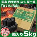 岩手切炭 なら 堅一級 箱入り5キロ 岩手切り炭 木炭 5kg 岩手県久慈市産 キャンプ バーベキュー BBQ 消臭 火鉢 囲炉裏 炭 あす楽対応 …