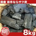 【国産木炭】 岩手 なら ザク炭 8kg 袋 【あす楽対応】【02P03Dec16】バーベキュー(BBQ)消臭 [※同梱発送不可]